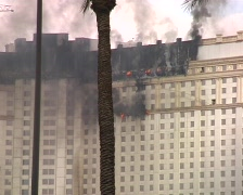 JANUARY 25, 2008: Las Vegas Monte Carlo Hotel Fire, USA. Archived video Stock Footage