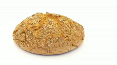 Single loaf of bread Stock Footage