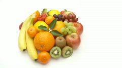 Small pale of fruits Stock Footage