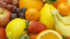Fruits closeup  Stock Footage