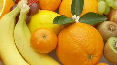 Fruits closeup loop Stock Footage