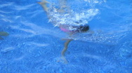 Stock Video Footage of Girl Swimming and Smiling