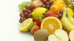 Fruits with place for text left Stock Footage