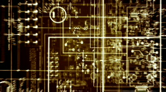 Radio circuitry 2 Stock Footage