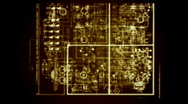 Stock Video Footage of radio circuitry 2