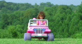 Girl Driving Toy Jeep HD Footage