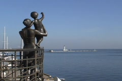 Statue Wife of Seaman  - stock footage