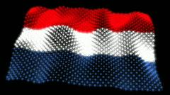 Glowing Flag - Netherland 05 (HD) Stock Footage