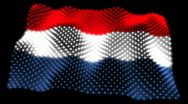 Stock Video Footage of Glowing Flag - Netherland 05 (HD)