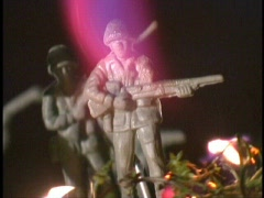 Armymen Melting Fast Cut Stock Footage