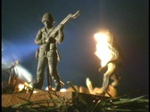 Stock Video Footage of Armymen Melting Fast Cut
