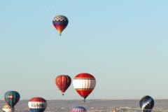 Balloon Fiesta 03 Time Lapse (zoom) Stock Footage
