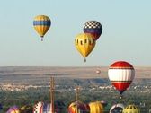 Stock Video Footage of Balloon Fiesta 03 Time Lapse (zoom)