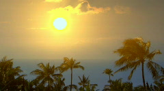 Time Lapse Sunset Hawaii 120 Stock Footage