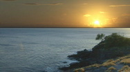 Stock Video Footage of Time Lapse Sunset Hawaii 122