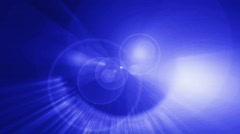 heavenly lens flare blue - stock footage