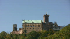 Wartburg castle - Eisenach - Germany Stock Footage