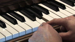 Piano 328 - Chopsticks with audio Stock Footage