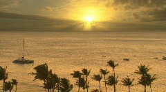 Time Lapse Sunset Hawaii 602 Stock Footage