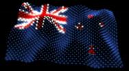Glowing Flag - New Zealand 05 (HD) Stock Footage