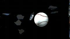 Baseball glass break animation Stock Footage