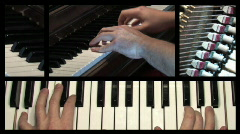 Piano Compilation Stock Footage
