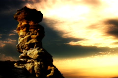 Time lapse looping Pulpit Rock yellow Stock Footage