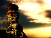 Stock Video Footage of Time lapse looping Pulpit Rock yellow