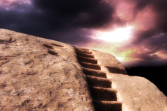 Rock Staircase TImelapse NTSC Stock Footage