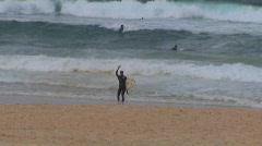 Shark attack at Bondi Beach in Sydney PT2 - stock footage