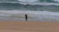 Shark attack at Bondi Beach in Sydney PT2 Stock Footage