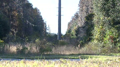 High Power Electrical Lines Stock Footage