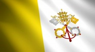 Vatican looping flag waving in the wind  Stock Footage