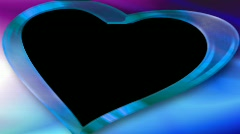 Wedding overlay with alpha blue heart HD NTSC Stock Footage