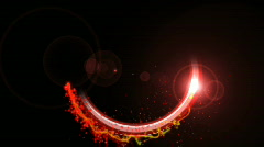 Red on black ring for logo enhancement Stock Footage