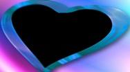 Wedding overlay with alpha blue pink swirls heart HD NTSC Stock Footage