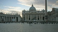 People walking in Saint Peter Square, Rome Stock Footage