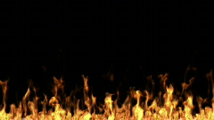 Fire inferno with alpha matte Stock Footage