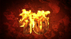3d coundtown with fire Stock Footage