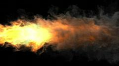 flamethrower - stock footage