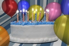 Birthday Candles - stock footage