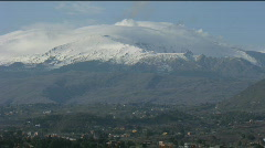The Etna Volcano, south side Stock Footage