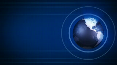 Loopable globe blue background Stock Footage