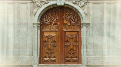 Church Doors HD Stock Footage