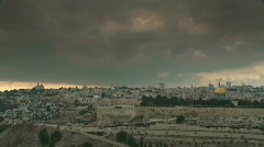 Jerusalem timelapse temple mount HD Stock Footage