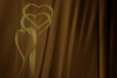 Gold Hearts Intro Stock Footage