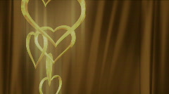 Hearts Up Drape HD Stock Footage