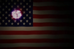July 4th Flag - stock footage
