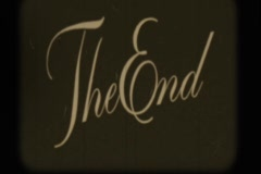 Projector The End Stock Footage