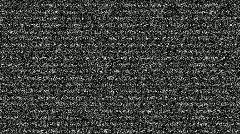 Tv static noise with sound Stock Footage